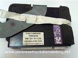 89730-YY120 Toyota Tundra Theft Warning Module