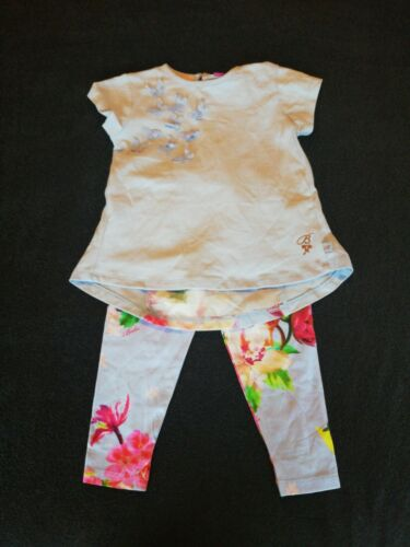 Girls Ted Baker T-shirt And Leggings Outfit 12-18 Months