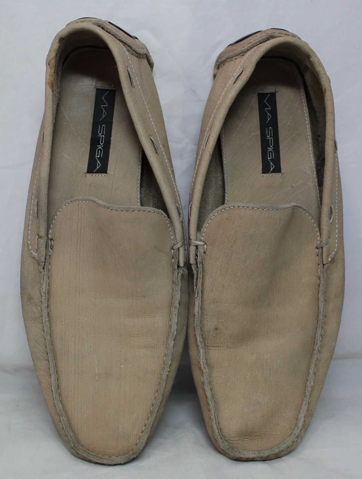 Via Spiga Uomo Tan Suede Pelle Loafers Size 13M - M Roadster