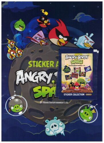 8 Angry Birds SPACE Albums and 32 Packs of Stickers Giro Max Enter Play 2014