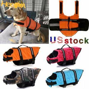 Dog Life Jacket Pet Swimming Safety Vest Puppy Reflective Stripe Preserver Suit