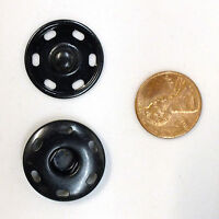 Sew-on Snaps Fasteners Size:23mm 144 Sets Package, Color: Black