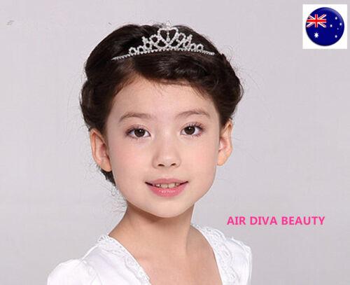 Girl Kids Children Bridemaid Princess Party Crystal Bling Tiara Hair Headband
