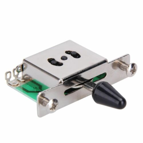 Colorful 5 Way Electric Guitar Pickup Toggle Selector Switch Parts Chrome With K