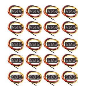 20Pc-DC-0-100V-Voltimetro-Voltimetro-Digital-Led-Rojo-Voltimetro-Medidor-de-Voltaje