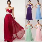 Plus Size Long Dress BEADED Prom Evening Gown Ball Party Bridesmaid Formal Dress