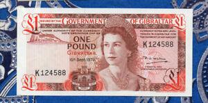 Gibraltar-1-Pound-Banknote-p-20b-1979-AUNC-K124588-Tip-ding
