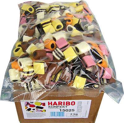 Haribo Lakritz Konfekt 3 kg Karton Lakritzkonfekt