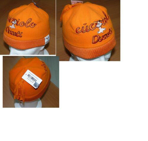 idea regalo bimbo cappellino ducati cucciolo arancio