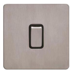 Schneider-Screwless-Flat-Plate-Light-Switch-Brushed-Stainless-Steel-GU1412BSS