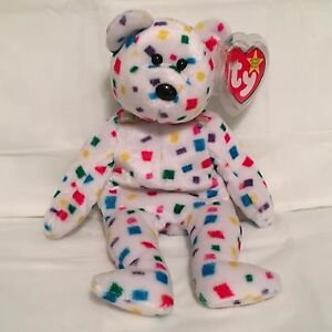 TY Beanie Baby - TY 2K the Colorful Bear - Pristine with Mint Tags ... 90244bbce257