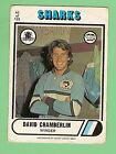 1976 CRONULLA SHARKS SCANLENS RUGBY LEAGUE CARD #62 DAVID CHAMBERLIN