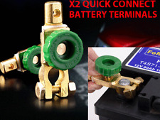 2X Battery Terminals Quick Disconnect Auto Boat Post Off Master Kill Switch Set