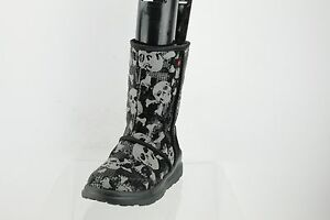 7a45fd9286e Details about Ugg I Heart Kisses Black Sequin Skull Crossbone Boots Women's  Shoes Sz 5 M NEW
