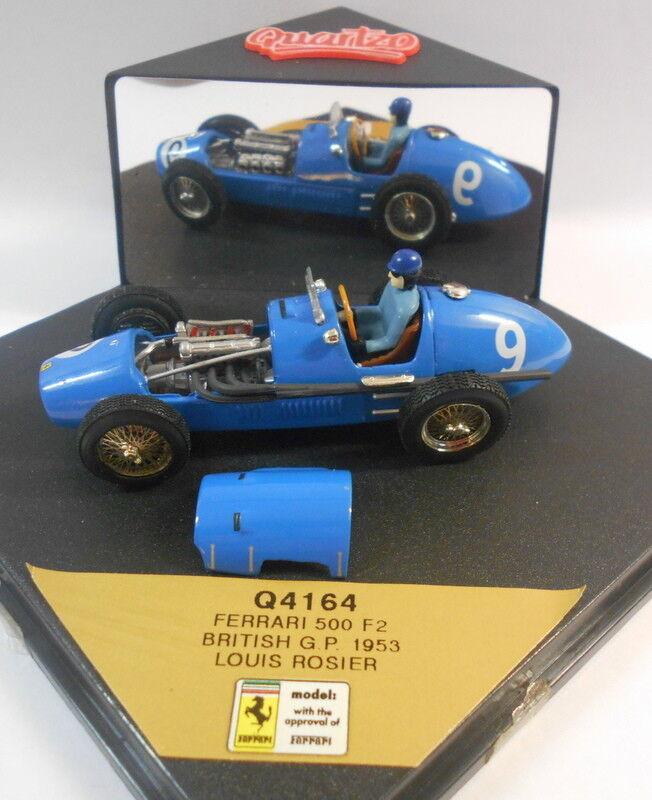 Quartzo 1 43 Scale - Q4164 FERRARI 500 F2 BRITISH GP 1953 LOUIS ROSIER
