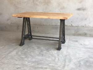 Tavolo Allungabile Ferro Vintage Industriale Shabby Chic Etnico Legno Loft Casa Ebay