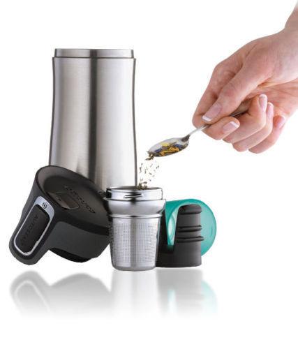 New Contigo West Loop Thermos Stainless Steel Tea WestLoop Infuser with Drip Cup