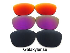 Galaxy Replacement Lenses For Oakley Frogskins Black&Purple&Red Polarized 3Pairs