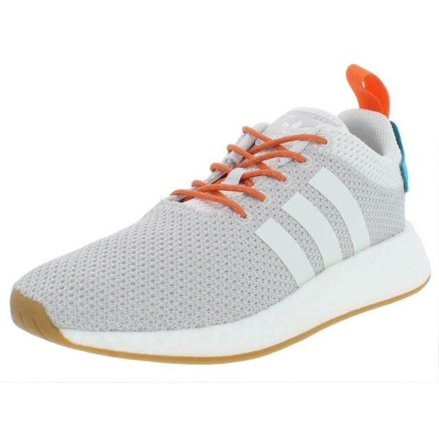 1791a26c7baec adidas NMD R2 Summer Mens CQ3080 Grey White Orange Boost Running Shoes Size  9