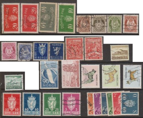 (OE-22) 1892-1983 Norway mix of 52stamps (A)