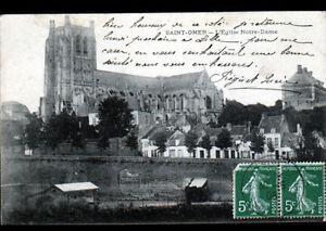 SAINT-OMER-62-VILLAS-amp-EGLISE-NOTRE-DAME-en-1908