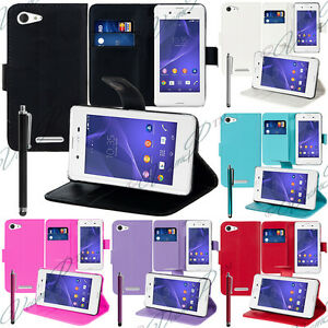 Housse-Etui-Coque-Portefeuille-Video-Sony-Xperia-E3-E3-Dual-D2212-D2203-D2206