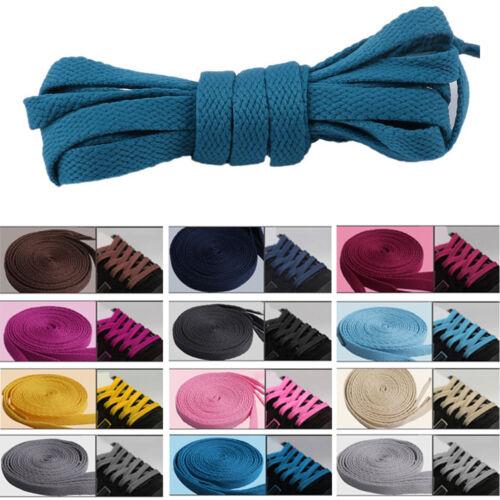 Shoe Laces Flat Coloured Trainer Boot Shoes Short Long Thin Unisex Shoelaces