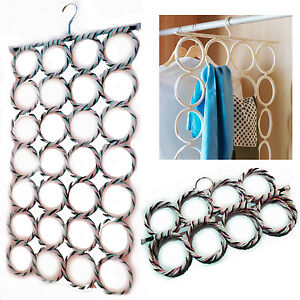 Scarf-Hanger-Organiser-Holder-Storage-28-Hole-Multi-Hold-Tie-Belt-Circle-Scarves