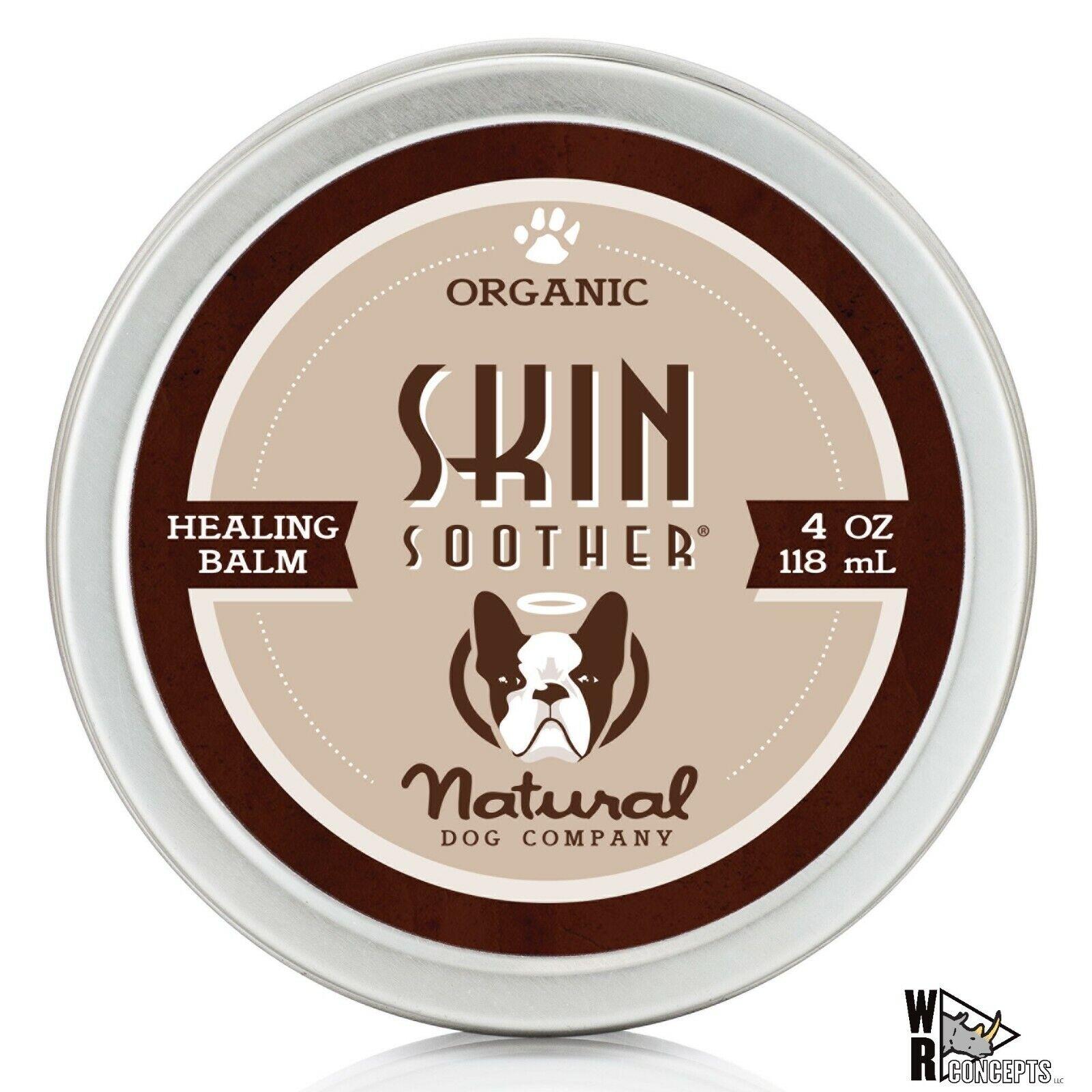 Natural Dog Company - Skin Soother - Organic, All-Natural Healing Balm 4 OZ