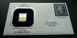 [SJ] USA Andrew Jackson President (stamp with cover) MNH *22k gold FDC?