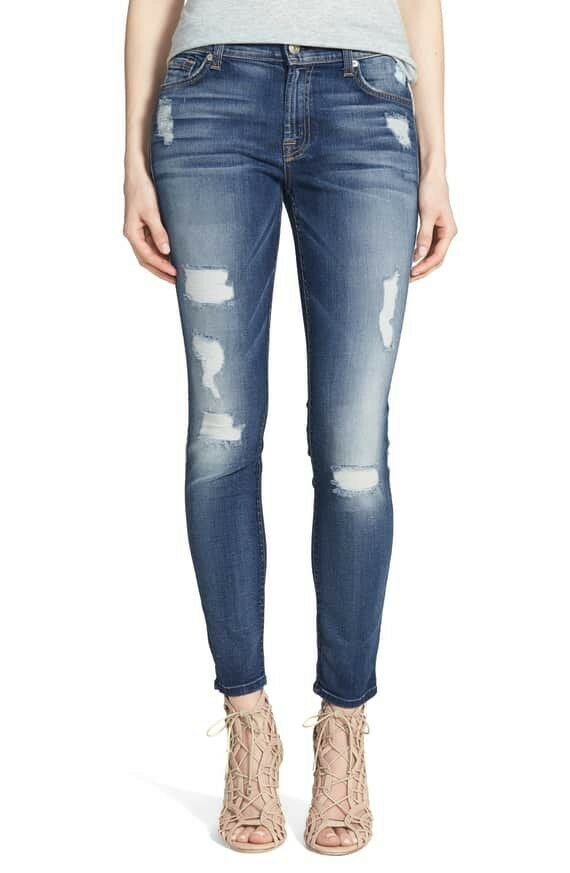 7 for all mankind The Ankle Skinny Jean's size 25