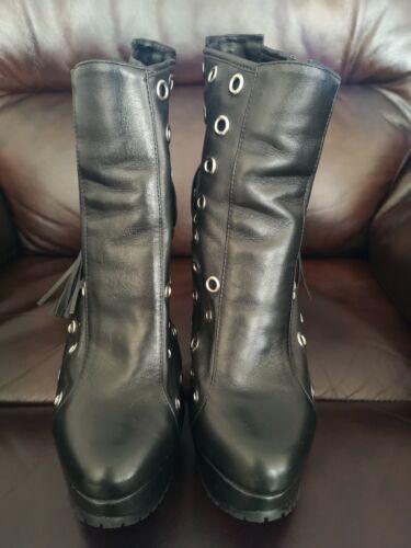Christopher Kane Topshop Boots heels 7 40 worn once collectors piece