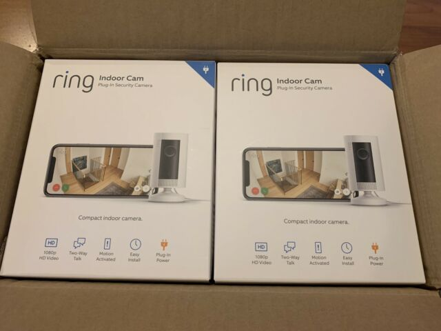 Ring Indoor Cam, Compact Plug-In HD security camera with two-way talk, Wifi