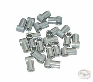 10 X Lego Technic 32013 Axle and Pin Connector Angled 1 Light Gray