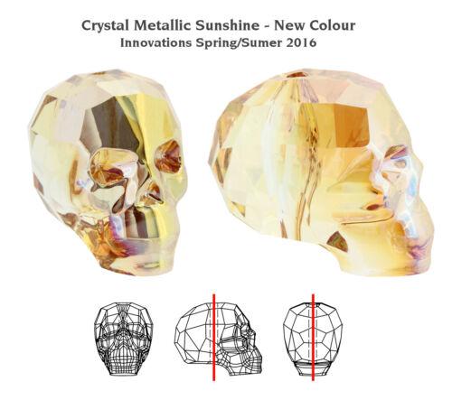 Beaucoup Tailles /& Couleurs Genuine Swarovski 5750 Crâne Cristaux Perles