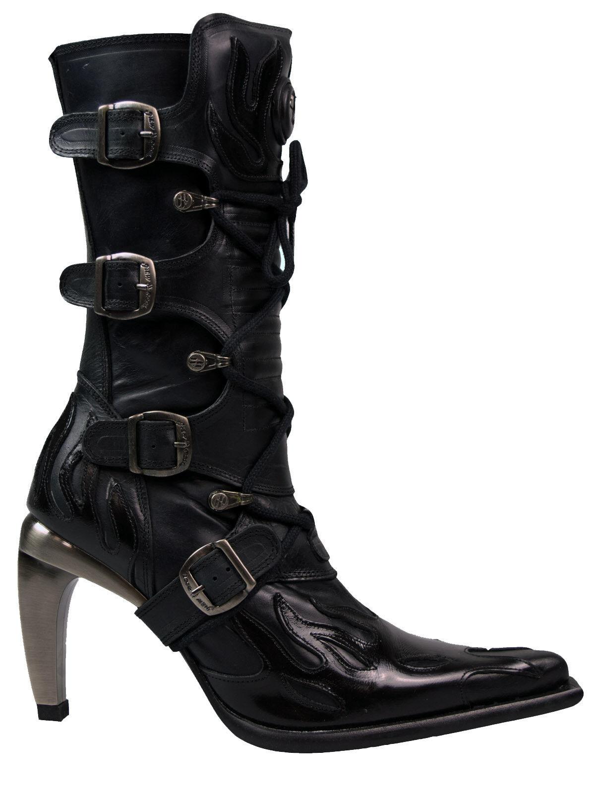 New Rock High Heel   Damen Stiefel Stiefel Flamme Lack MeGrößebsatz M951  5072