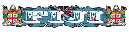 FIJI Vinyl  Decal size APR 1000mm W by 192 mm H gloss laminated