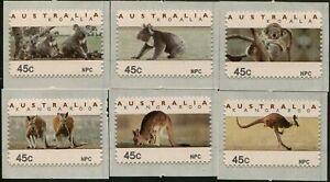 Australia-CPS-Kangaroos-and-Koalas-NPC-1993-diecut-set-MNH