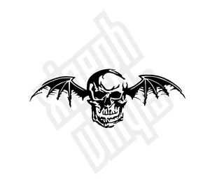 Avenged-Sevenfold-vinyl-sticker-decal-cd-car-Deathbat-logo-window-cd-skin-mac