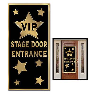 HOLLYWOOD PARTY CELEBRITY AWARDS VIP ENTRANCE DOOR BANNER SIGN PROP DECORATION