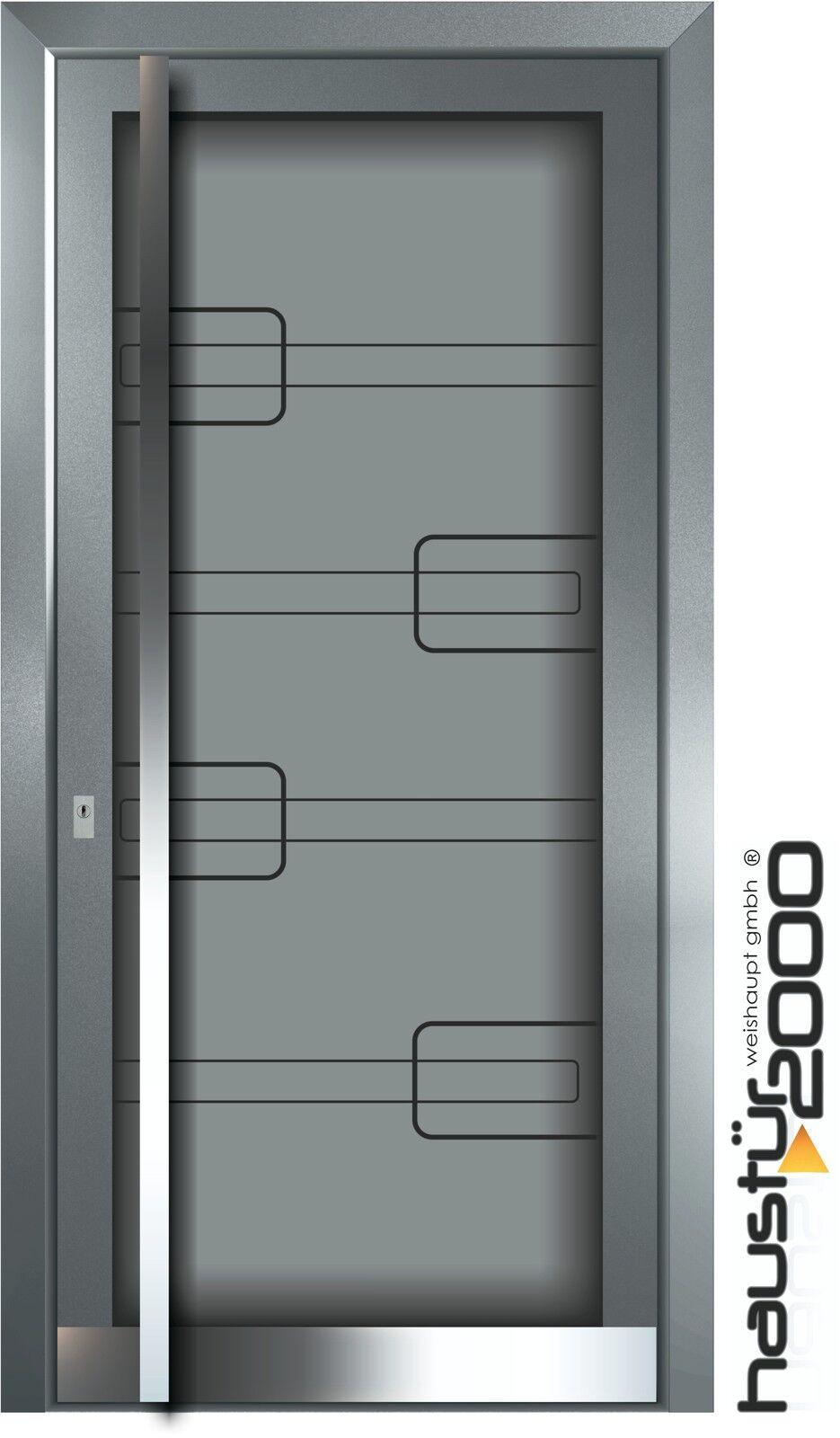 HAUSTÜR2000® Aluminium Haustür Glas Tür Alu Haustüren nach Maß Mod. HT 6514 GLA