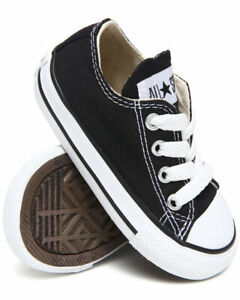 Converse All Star Ox Black White Infant Toddler Boys Girls Shoes ... 9a6be7d59