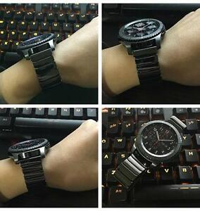 Image Is Loading New 22mm Ceramic Watch Strap Band Wristband For