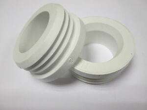 Details about New Internal Flush Cone Connector for Toilet Pan WHITE