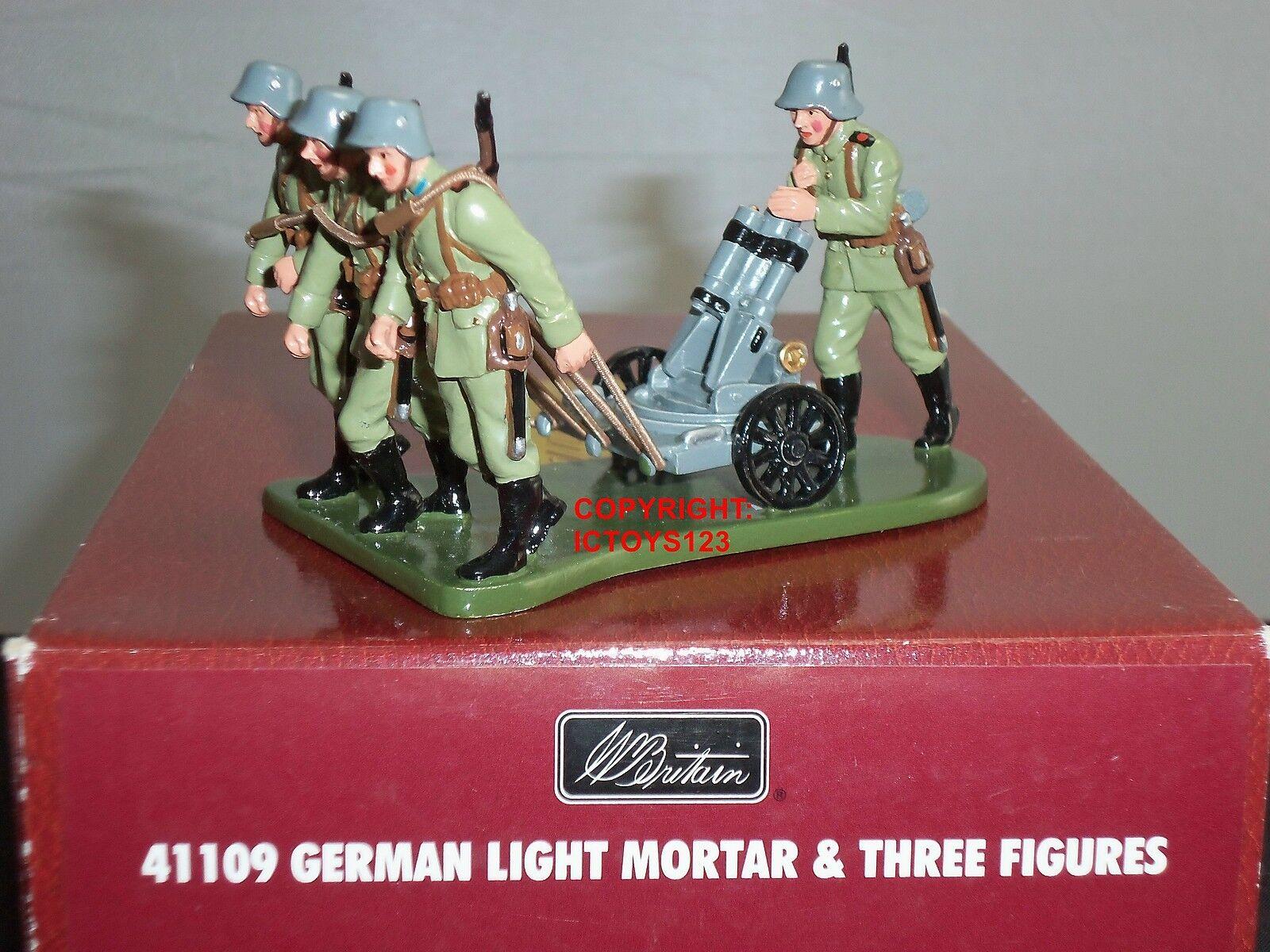 Britains Britains Britains 41109 gerFemme light mortar gun  ras du cou métal WW1 toy soldier figure set   La Conception Professionnelle  7f7906