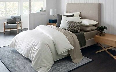 Sheridan Belaire Queen Size Bed Cotton Quilt Cover Pillowcases Set in White