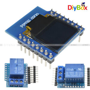 "0.66"" WeMos D1 Mini Wifi 1CH Relay Shield 5/12V OLED I2C IIC for ESP8266 Arduino"