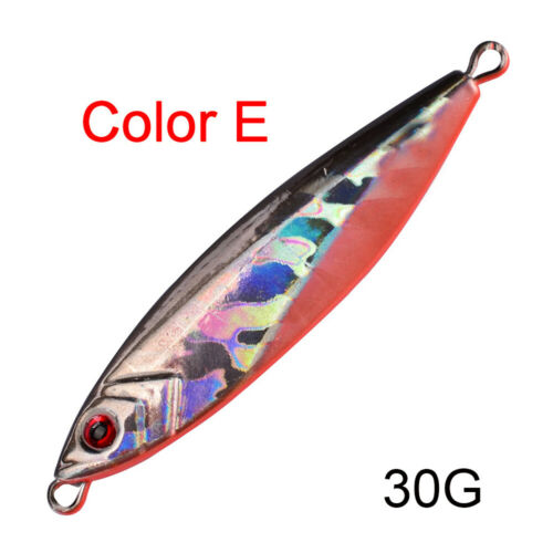 Hook Colorful  Minnow Fishing Lures Jig Metal Slice Spinning Baits Lead Casting