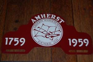 VINTAGE-AMHERST-MA-MASSACHUSETTS-ANTIQUE-CAR-LICENSE-PLATE-TOPPER-1759-1959