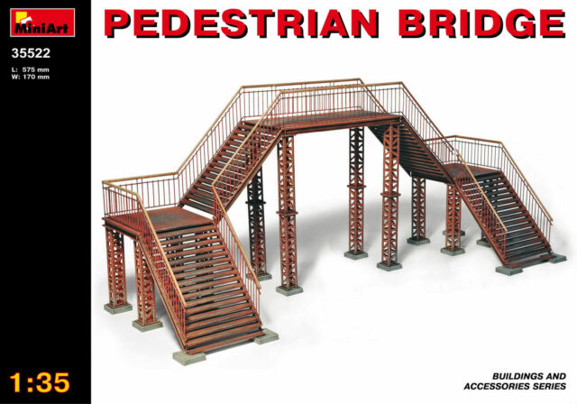 Miniart Pedestrian Bridge Pedestrian Bridge 1:3 5 Kit Model Kit 35522 Diorama